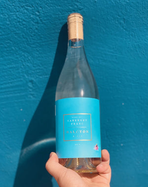 100% Cabernet Franc. Contra Costa, California.  Woman winemaker - Kim Elwell. All natural. White wine from red grapes. Intoxicating jasmine. Green peppercorn. Like floating on a honeydew floatie, in a kefir lime pool, under a gala apple sun.