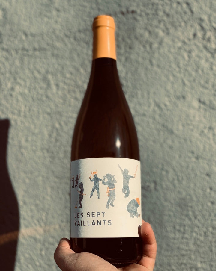 80% Vermentino. 10% Viognier. 10% Roussane. Languedoc, France.  Woman winemaker - Laura Borrelli. All natural. Rich & rustic like a fancy cabin in the woods. Citrus & peach. Wild & nutty. Little funk. Lush vibes.
