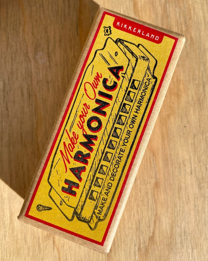 Put together your very own shiny gold harmonica with this make your own harmonica kit!