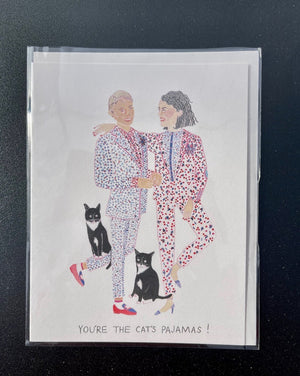 You're the Cat's Pajamas Greeting Card