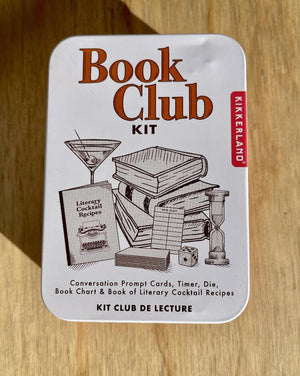 A great way to share your love of books and be a hit at your desk-hosted book club!  This cute tin contains Conversation Prompt Cards, Hourglass Timer, Die, Book Chart & Literary Cocktail Recipes.  Everything you need at your next book club meeting!