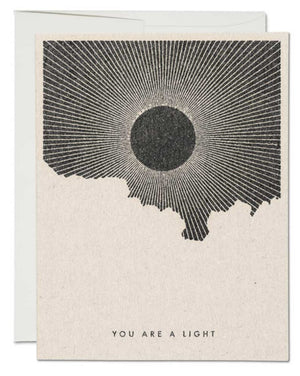 You Are A Light Greeting Card