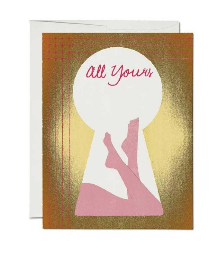 All Yours Keyhole Card