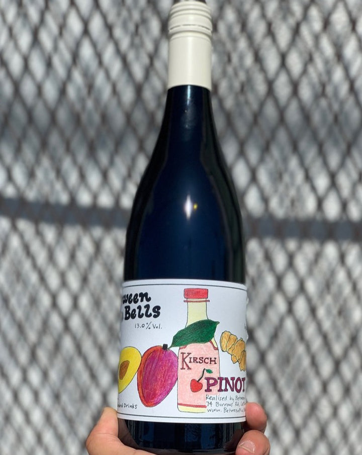 100% Pinot Noir Leathbridge, Australia.  Woman winemaker - Lois Doeven. All natural. Fresh like the Prince of Bel Air. Sliced citrus. Dried berry explosion. Hint of Vegemite. Opulent + silky. Carbonic cherry.