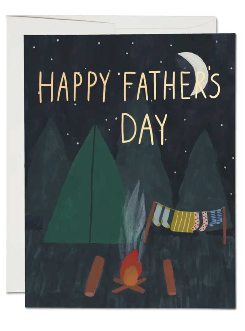 Happy Fathers Day Camping Greeting Card