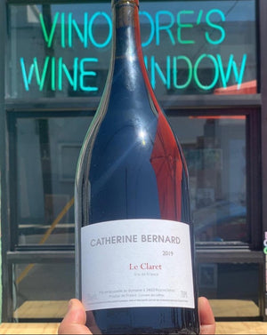 Grenache/Cinsault Marselan, Vin de France.  Woman winemaker - Catherine Bernard. All natural. Magnum (2 bottles). Chillable red. Lush and lovely yet crisp and funky, this big bottled girl is ready to parrrrtay! Herbs, smoke, fruit.