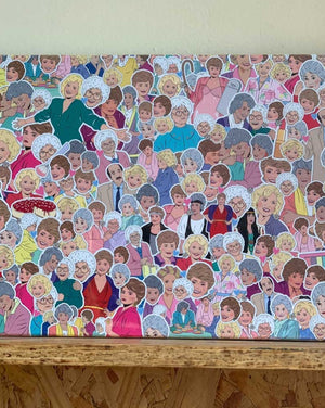 500 piece puzzle featuring the gorgeous Golden Girls! Illustrated.