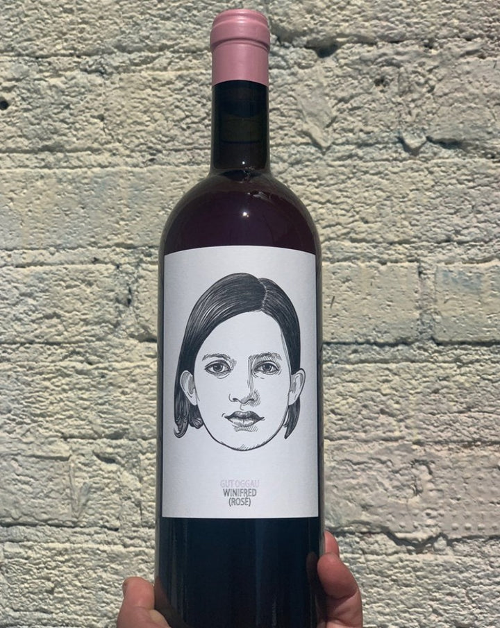 Blaufrankish Zweigelt Burgenland, Austria.  Woman winemaker - Stephanie Tscheppe. All natural. Winifred has a winning and open personality. Super special + small production. Absolute stunner! Best rosé you will ever have. Hibiscus, rich cranberry + herbs. Original taste maker.
