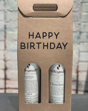 Happy Birthday Wine Gift Box (2 Bottle)