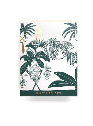 Houseplant Happy B-Day Card