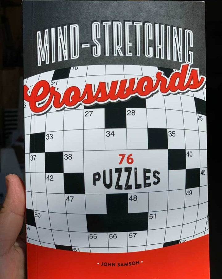 "Acclaimed puzzle-writer John Samson's latest collection of crosswords will stretch, challenge and entertain your brain.  With puzzles centered on a variety of engaging themes from ""Blockbuster films"" to ""Born on April Fool's Day,"" these crosswords will keep your mental powers in perfect practice. Enjoy seventy-six puzzles ranging from simple to seriously difficult for puzzlers of all ages."