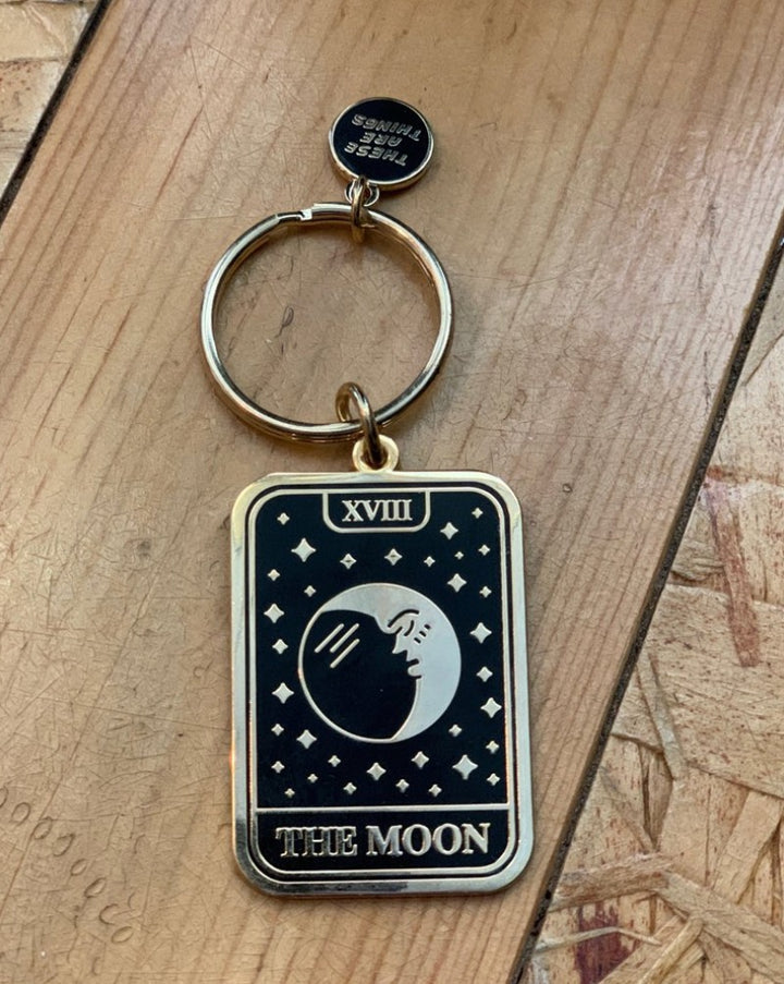 The Moon Tarot Key Chain
