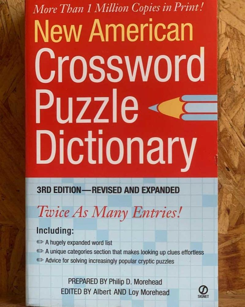 The essential tool for every crossword puzzle lover!  This updated and expanded third edition of the New American Crossword Puzzle Dictionary is a rich storehouse of indispensable information that puts the correct answer right at a puzzler's fingertips.