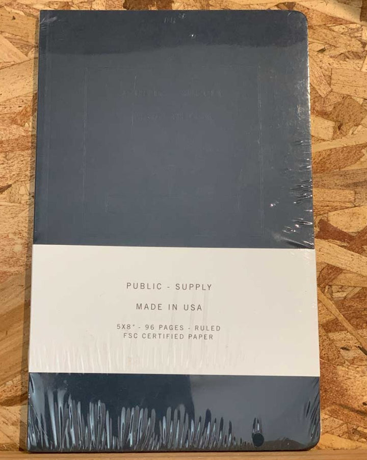 Public Supply Notebook Large - Single Navy