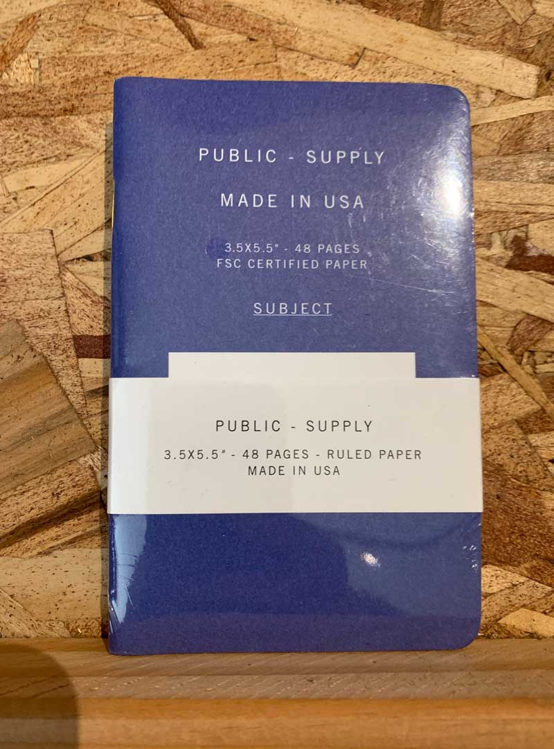 Public Supply Notebooks Small - 3 Pack Blue Ruled