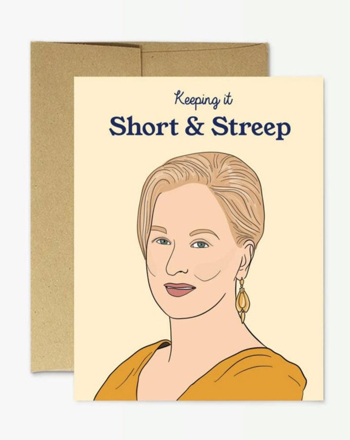 Short and Streep Greeting Card. Blank inside.