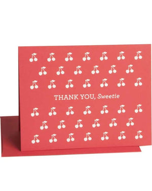 "Greeting: ""Thank You, Sweetie""  Includes envelope."