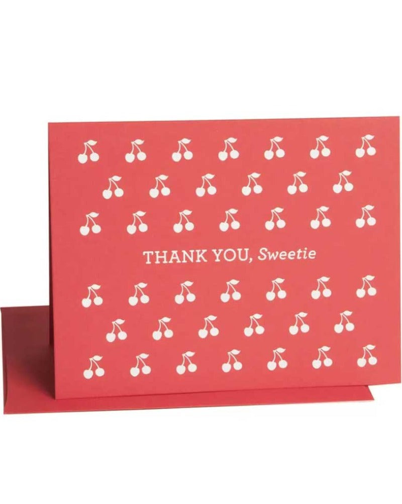 Thank You Sweetie Cherry Greeting Card