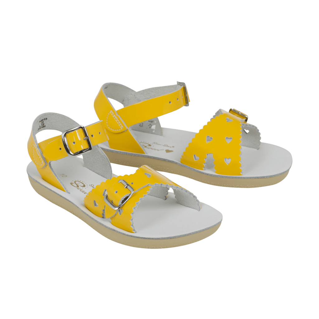 Sweetheart Salt-Water Sandals Shiny Yellow