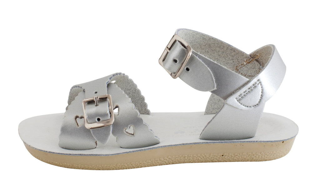 Sweetheart Salt-Water Sandals Silver