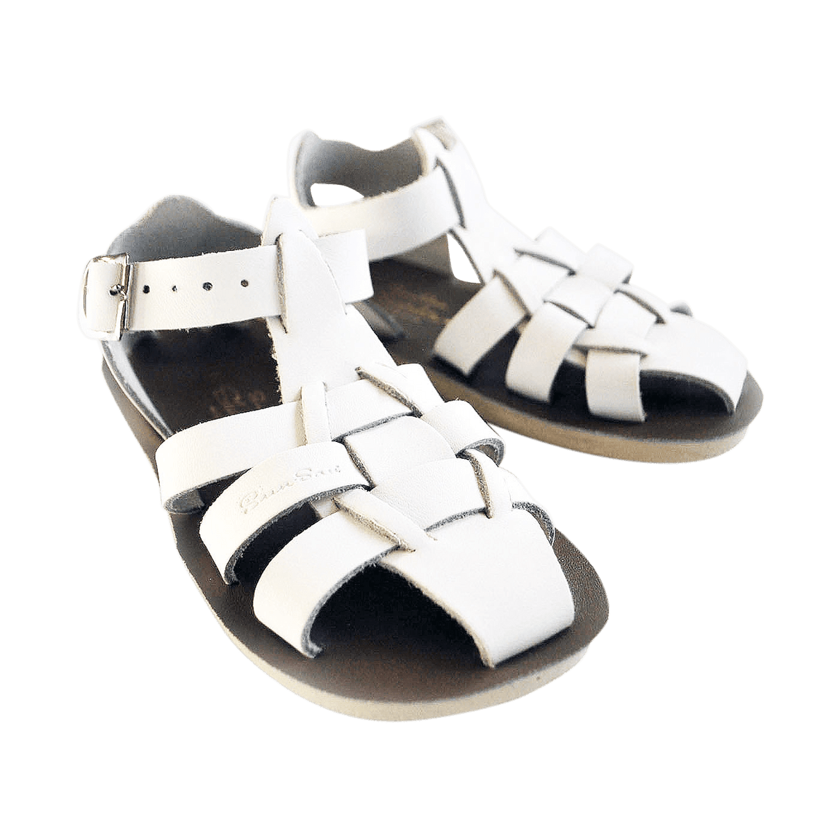 Shark Salt-Water Sandals White