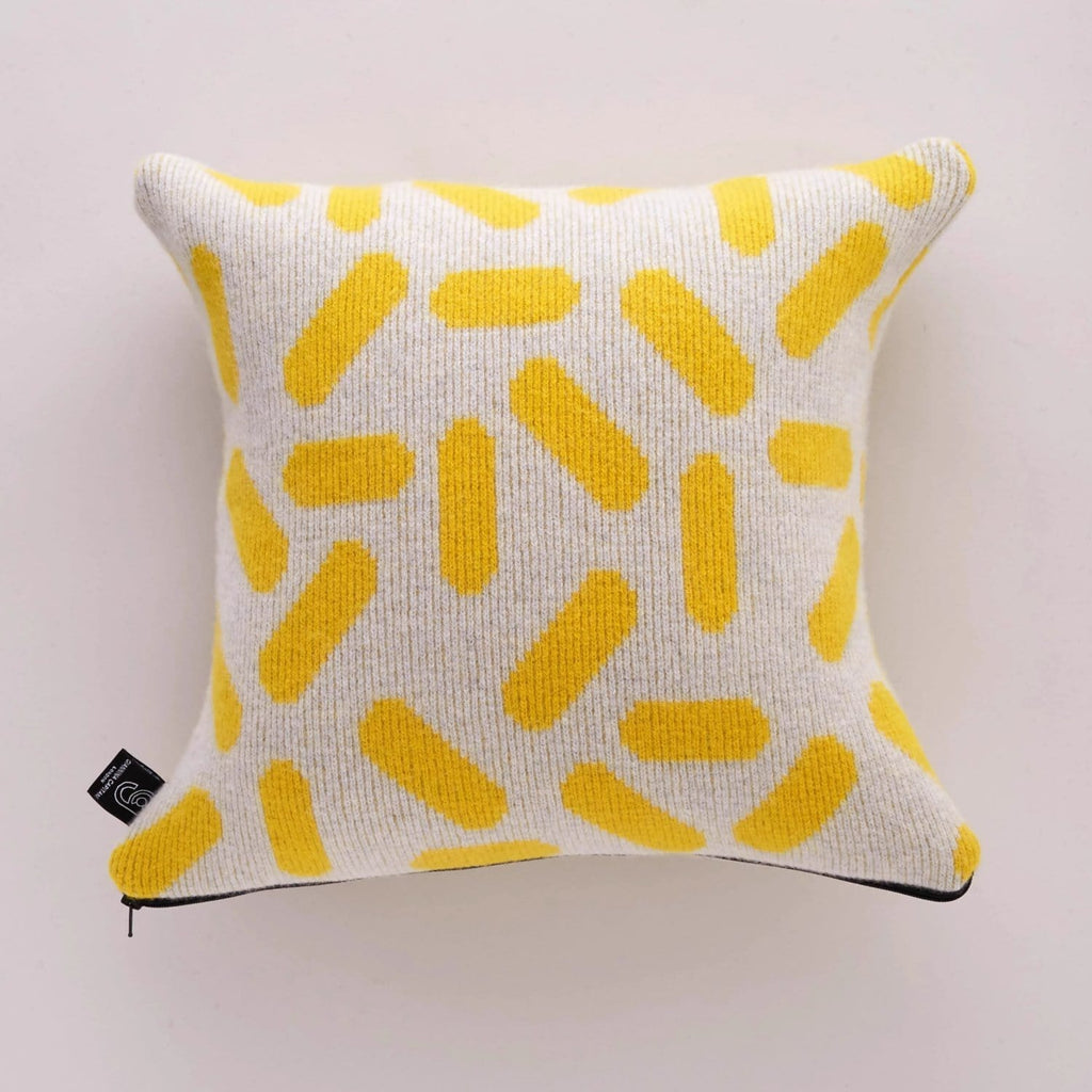 Tic Tac Cushion Yellow