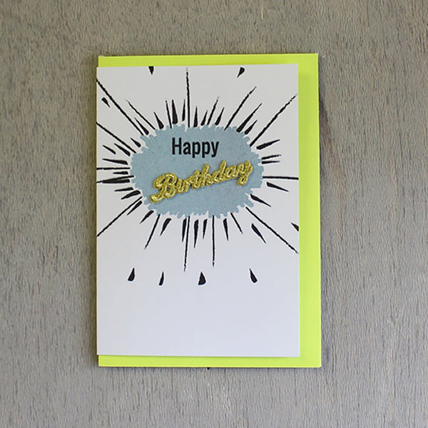 Happy Birthday Embroidered Word Card