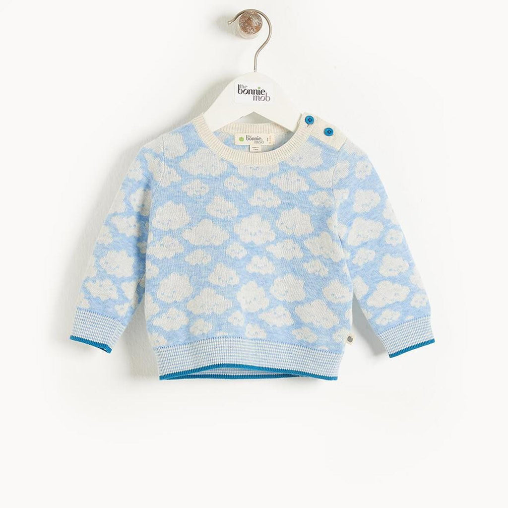 Hope Baby Cloud Jaquard Sweater Blue