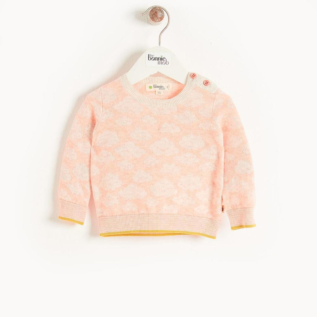 Hope Baby Cloud Jaquard Sweater Peach
