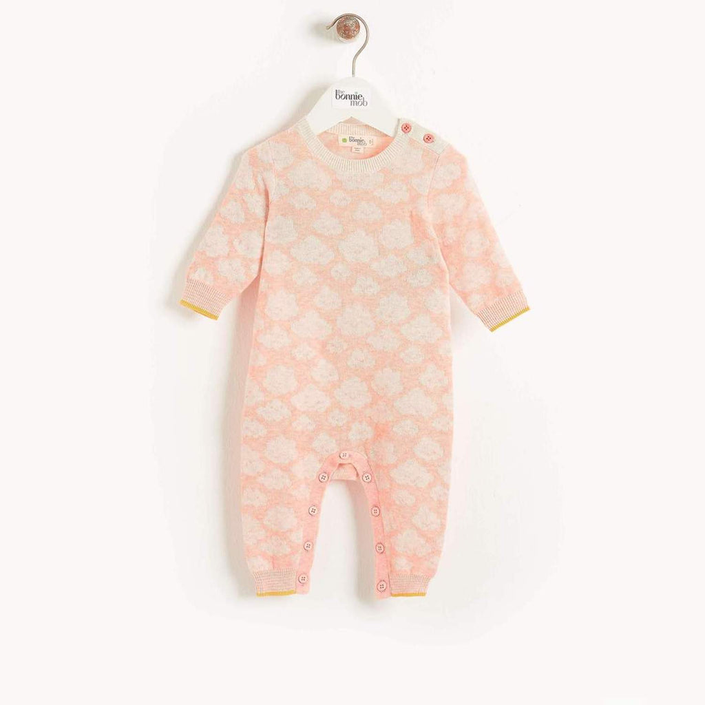 Hush Baby Cloud Jaquard Playsuit Peach