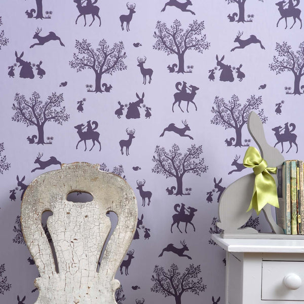 Enchanted Wood Wallpaper - Aubergine