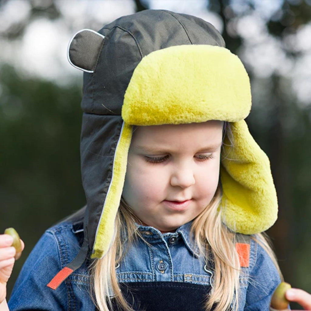 Artic Cub Khaki Yellow Trapper Hat