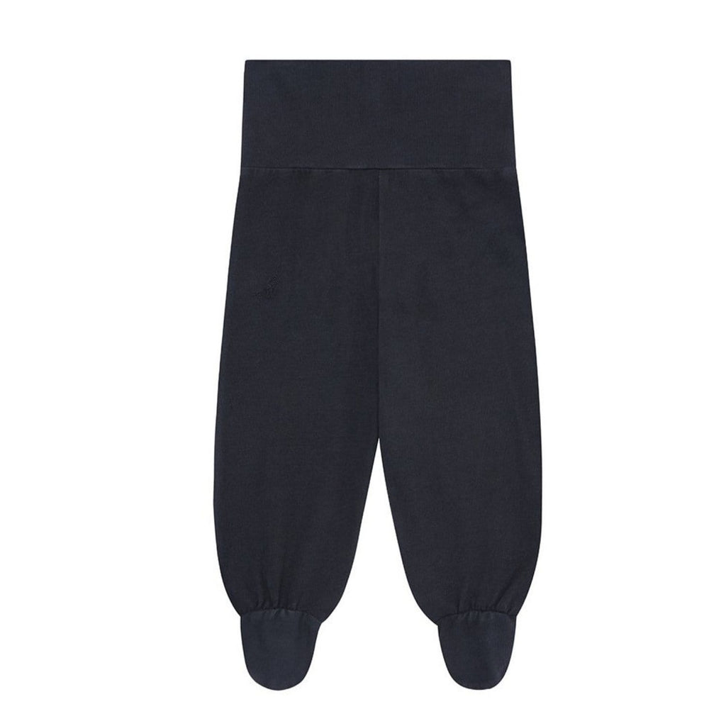 Leggings With Feet Organic Cotton Blue