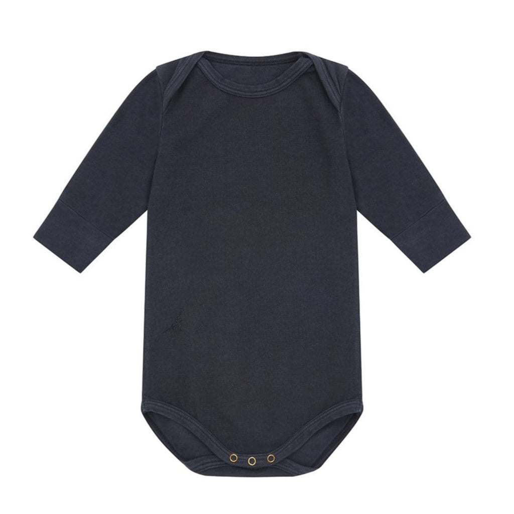 LS Bodysuit Organic Cotton Bodysuit Blue