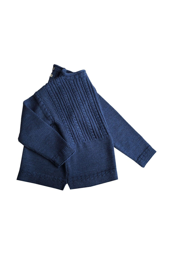 Otto Gansey Sweater Slate Blue