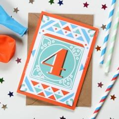 4th Birthday Card