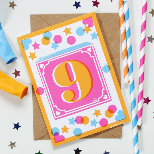 9th Birthday Card