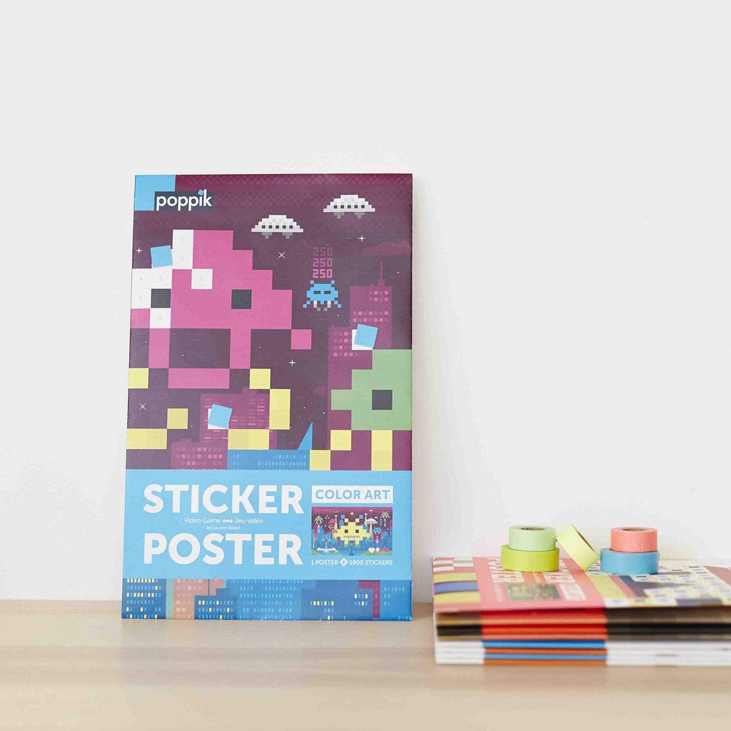 Space Invaders Sticker Poster