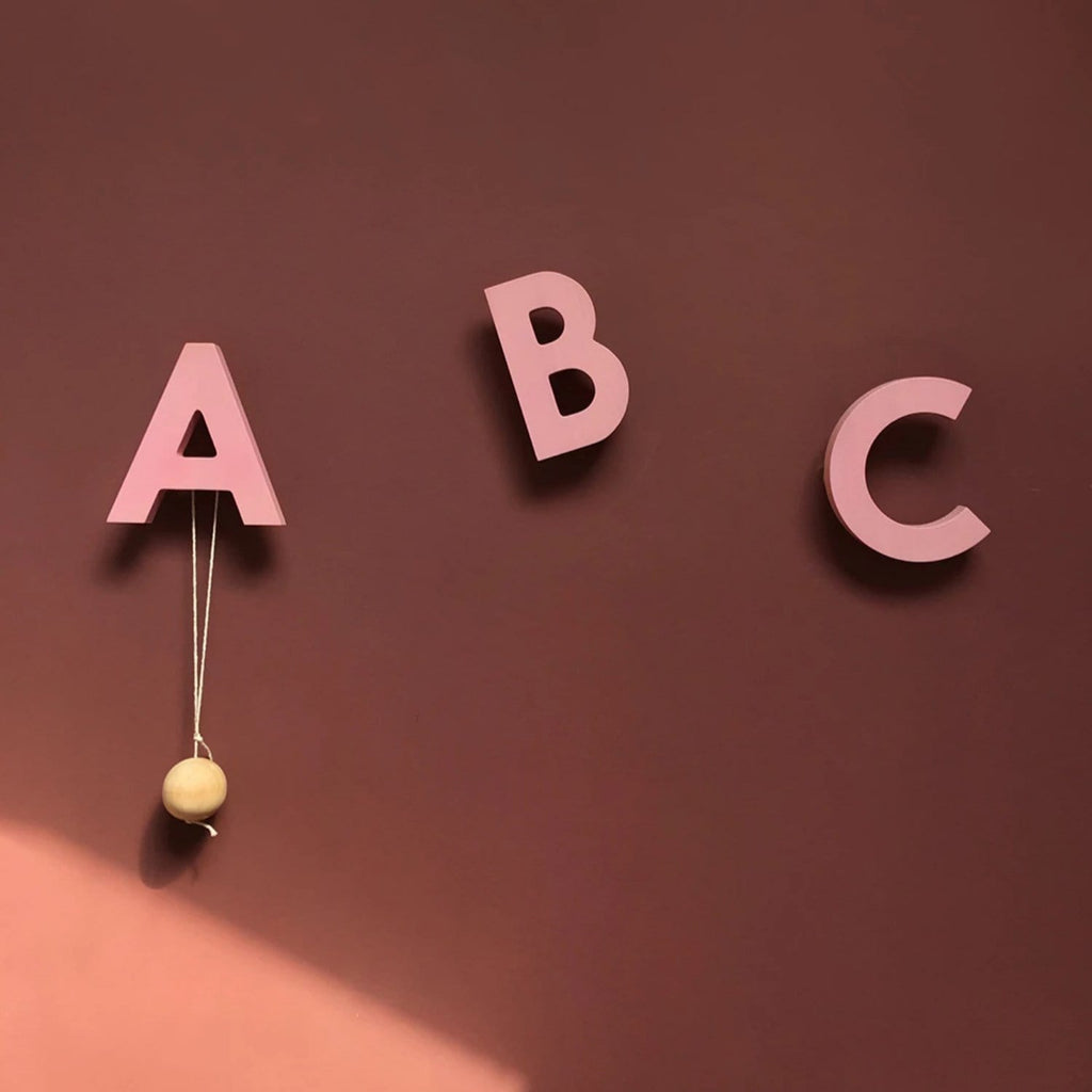 Alphabet Soup Wall Hooks - ABC Rose