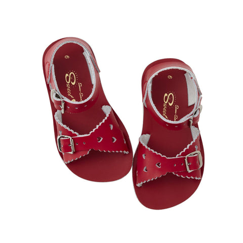 Sweetheart Salt-Water Sandals Red