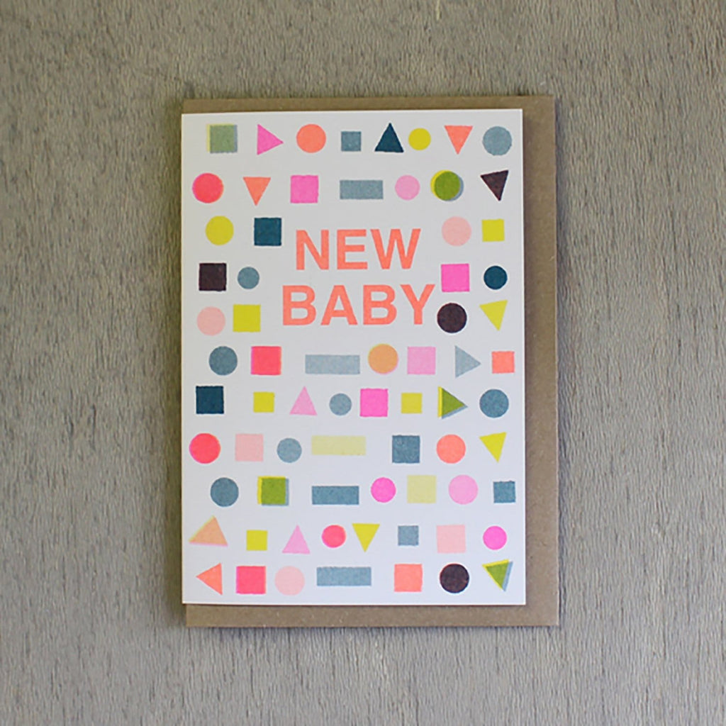 Riso Shapes New Baby Card