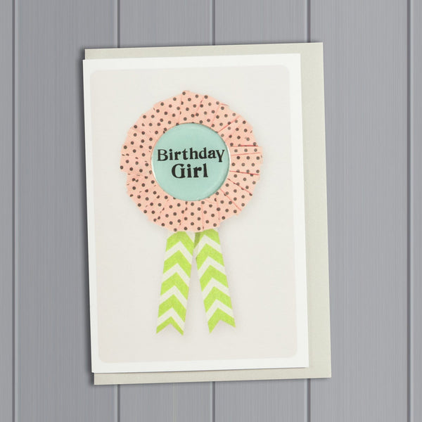 Spotty Rosette Happy Birthday Card