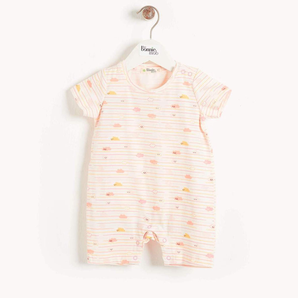San Jose Baby Cloud Shorty Playsuit Peach