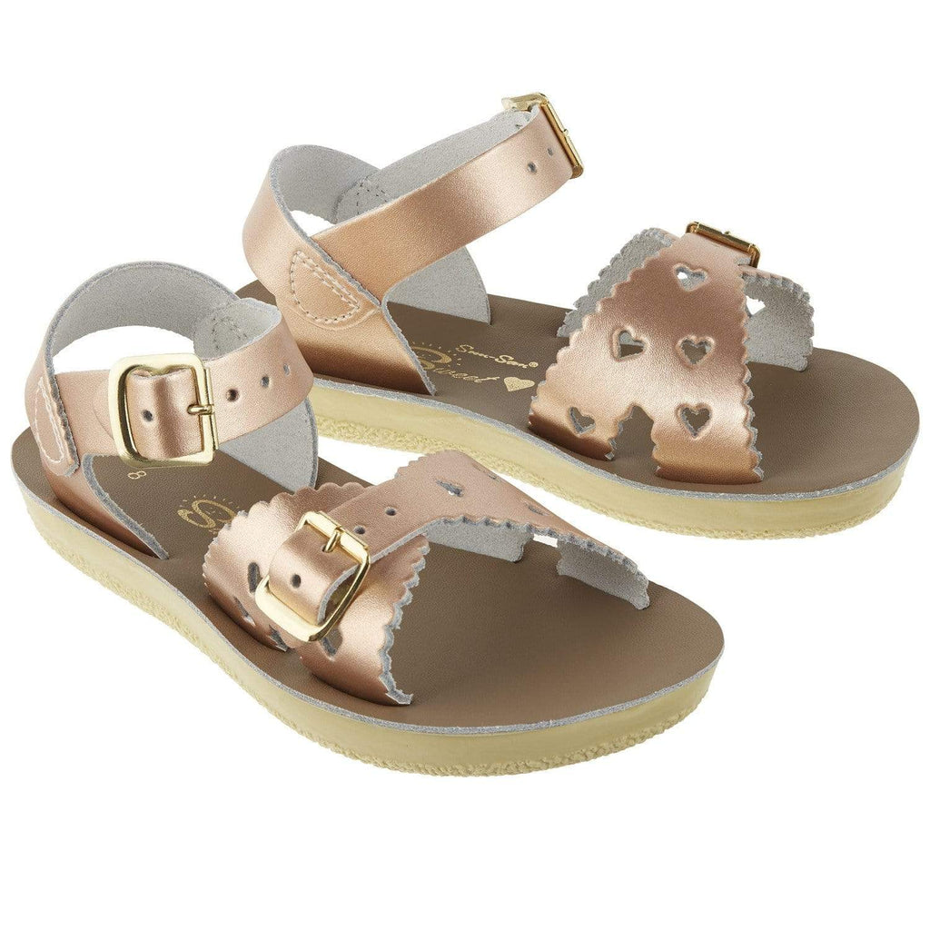 Sweetheart Salt-Water Sandals Rose Gold
