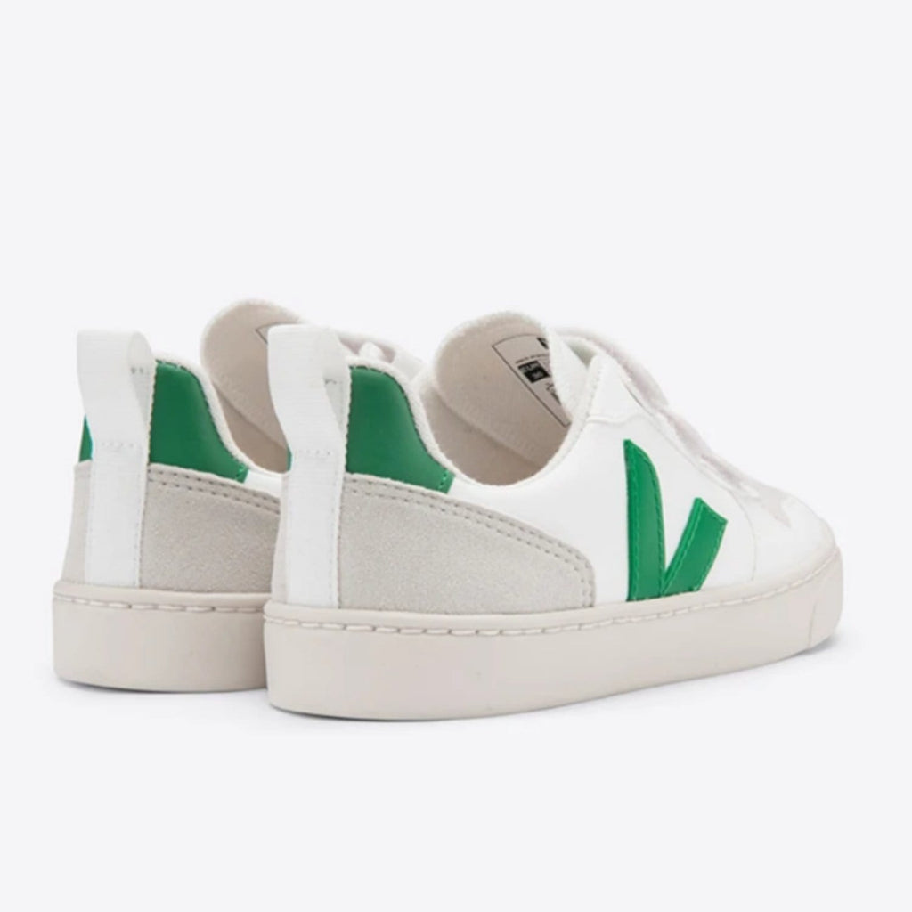V-10 Velcro White Emeraude Junior