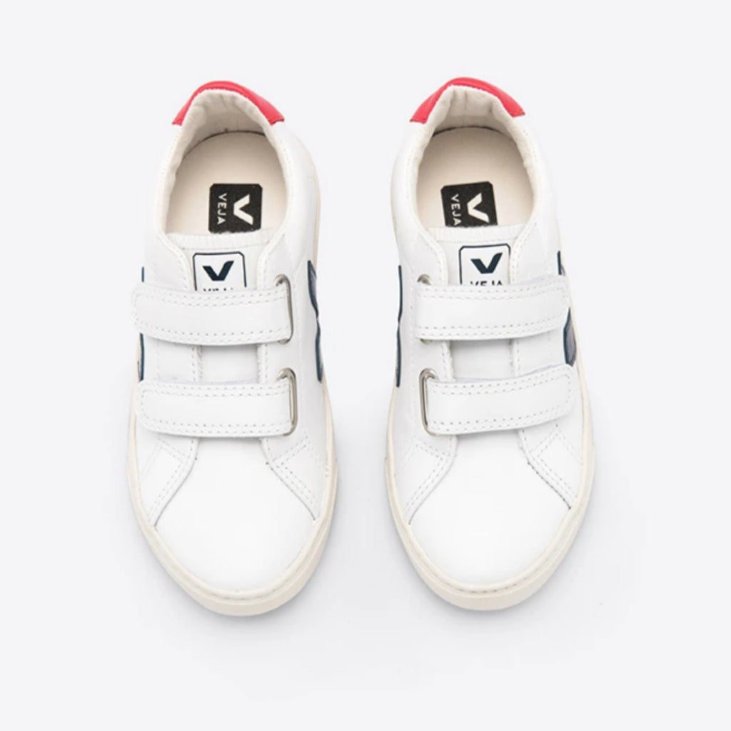 Esplar Velcro Leather Extra White Nautico Pekin
