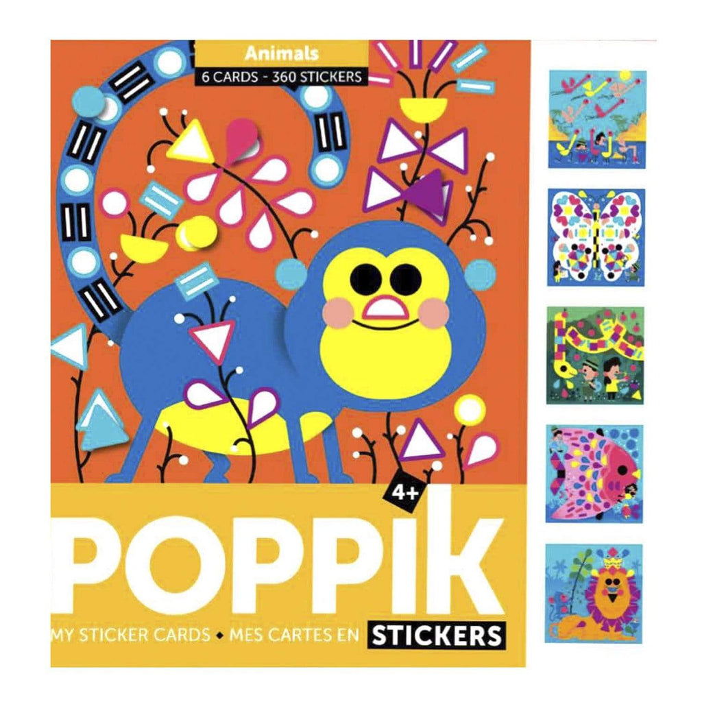 Animals Sticker Cards