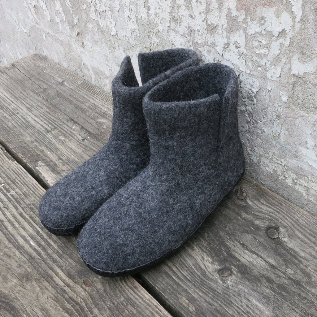 Bidi Slipper Boots I Dark Grey
