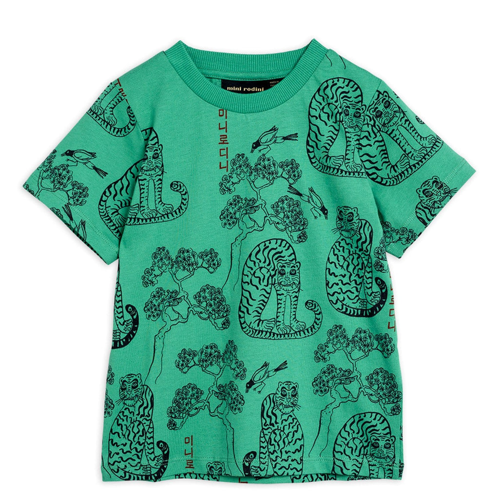 Tigers AOP SS Tee Green