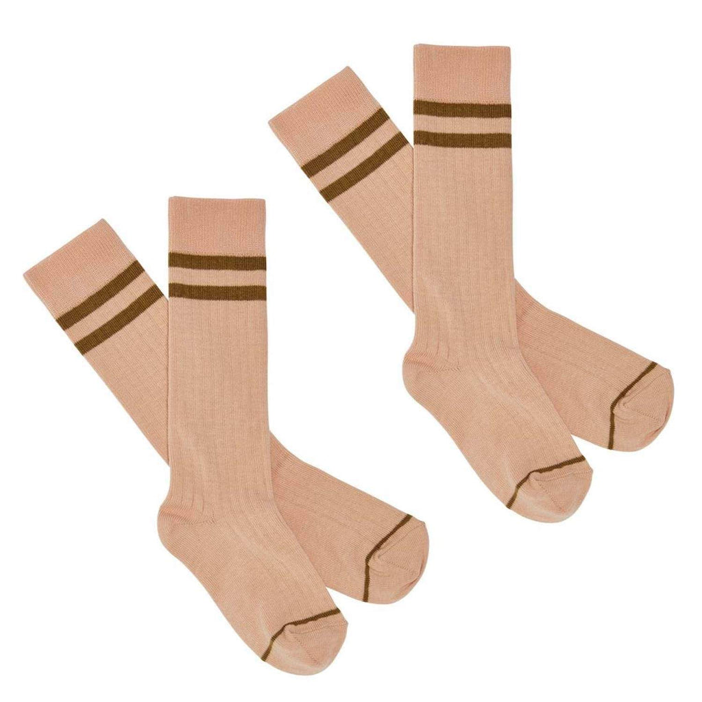 2 Pack Knee Length Socks Rose